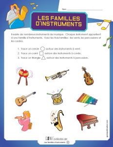 Les familles d'instruments – 2