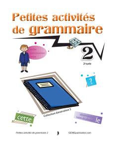 Petites activités de grammaire 2