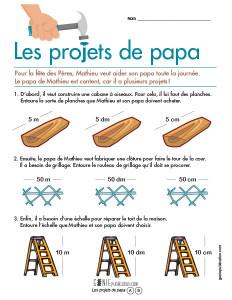 Les projets de papa