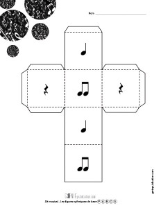 Dé musical – Les figures rythmiques de base