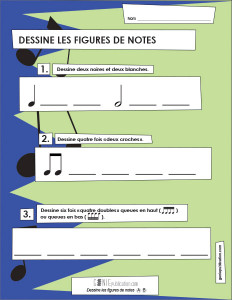 Dessine les notes