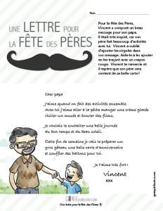 Une lettre pour la fête des Pères