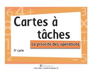 Cartes à tâches – La priorité des opérations
