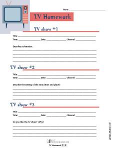 TV Homework