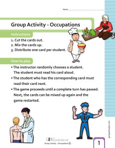 Group Activity: Occupations
