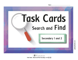 Task Cards – Search and Find Secondary 1 and 2