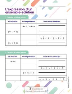 L'expression d'un ensemble-solution