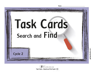 Task Cards – Search and Find Cycle 2