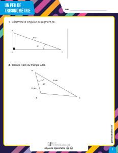 Un peu de trigonométrie