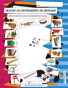 Trouve les instruments de musique