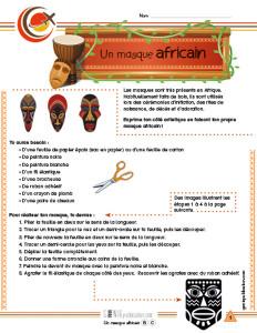 Un masque africain