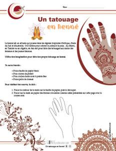 Un tatouage en henné