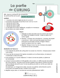 La partie de curling