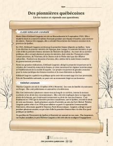 Des pionnières québécoises