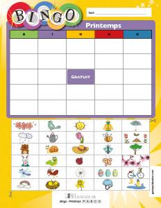 Bingo – Printemps