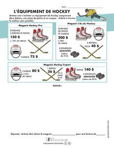 L'équipement de hockey