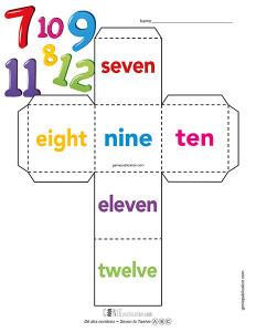 Dé des nombres – Seven to Twelve