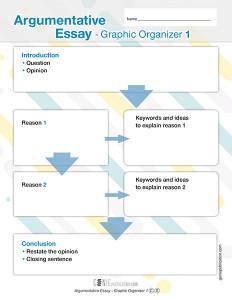 Argumentative Essay – Graphic Organizer 1