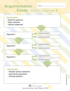 Argumentative Essay – Graphic Organizer 2