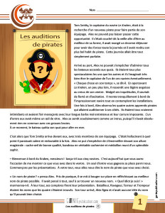 Les auditions de pirates