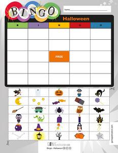 Bingo – Halloween (Anglais)