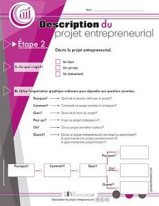 Description du projet entrepreneurial