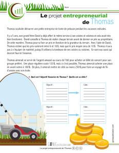 Le projet entrepreneurial de Thomas